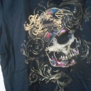 Harley Davidson skull rainbow color foil